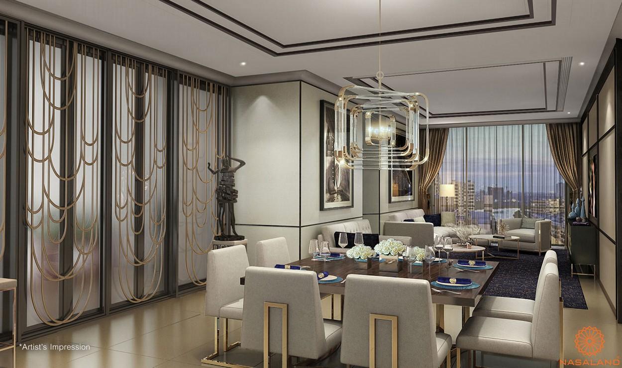 Thiết kế phòng ăn bàn giao căn hộ D1 Mension quận 1