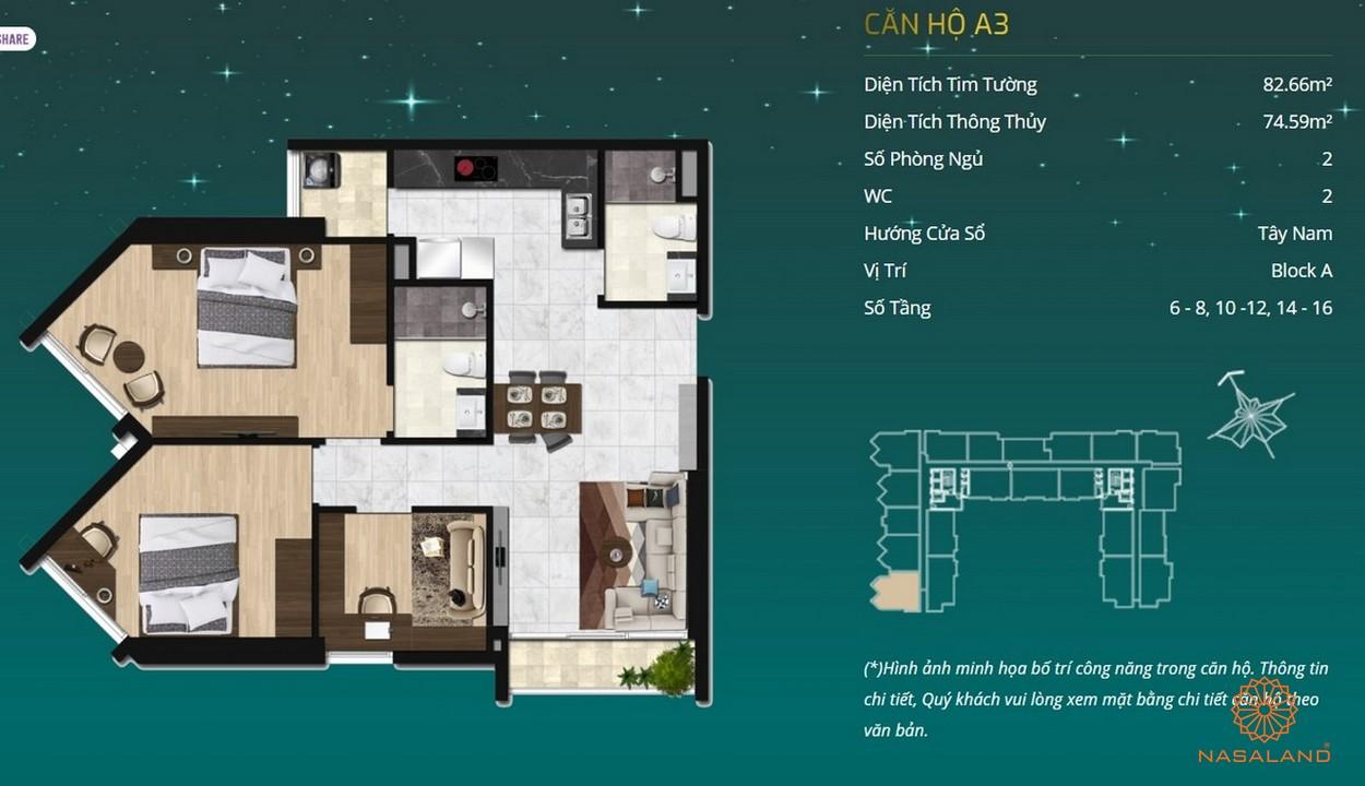 Thiết kế dự án căn hộ Asiana - căn hộ A3