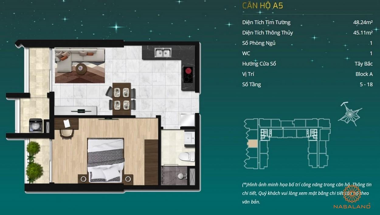 Thiết kế dự án căn hộ Asiana - căn hộ A5