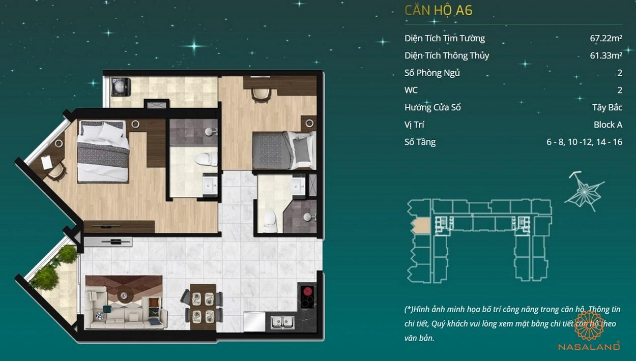 Thiết kế dự án căn hộ Asiana Capella - căn hộ A6