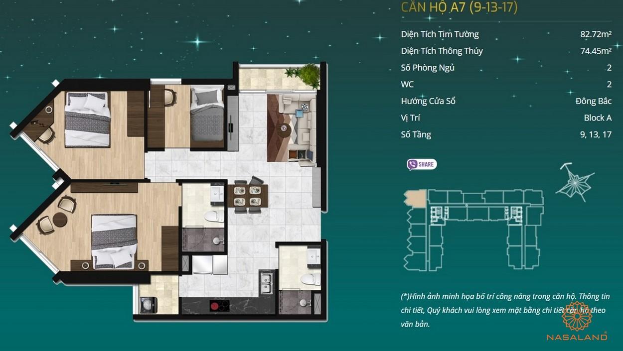 Thiết kế dự án căn hộ Asiana Capella - căn hộ A7