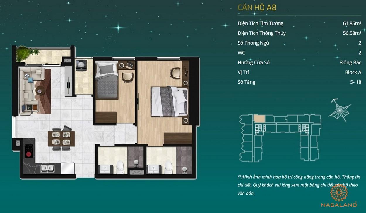 Thiết kế dự án căn hộ Asiana Capella - căn hộ A8