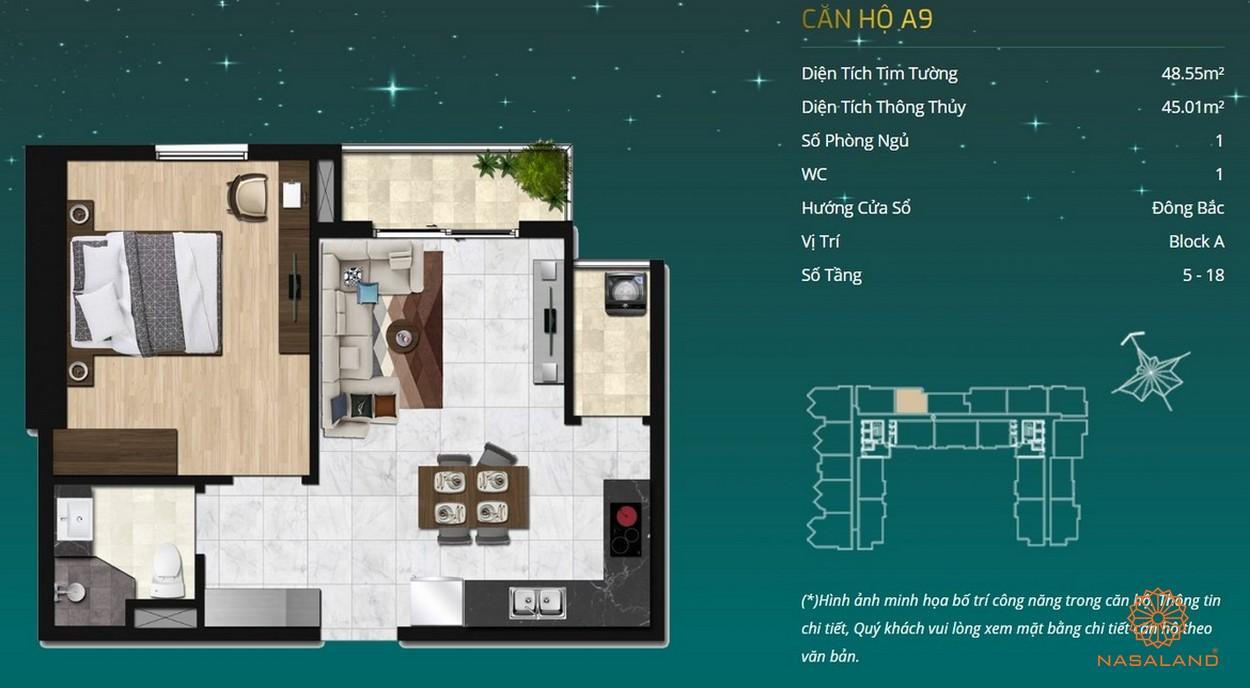 Thiết kế dự án căn hộ Asiana Capella - căn hộ A9