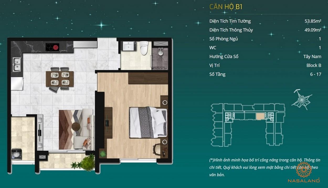 Thiết kế dự án căn hộ Asiana Capella - căn hộ B1