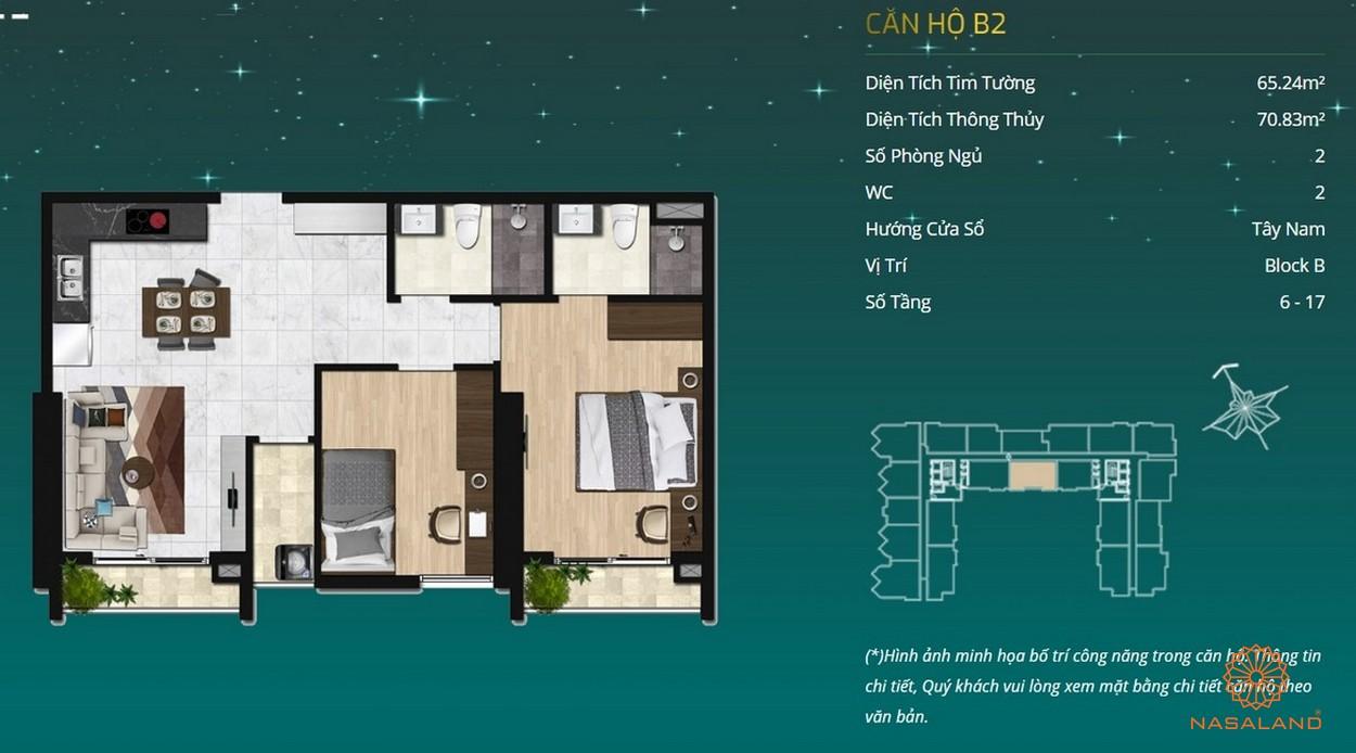 Thiết kế dự án căn hộ Asiana Capella - căn hộ B2