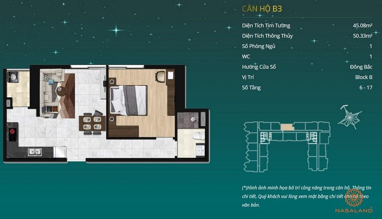 Thiết kế dự án căn hộ Asiana Capella - căn hộ B3