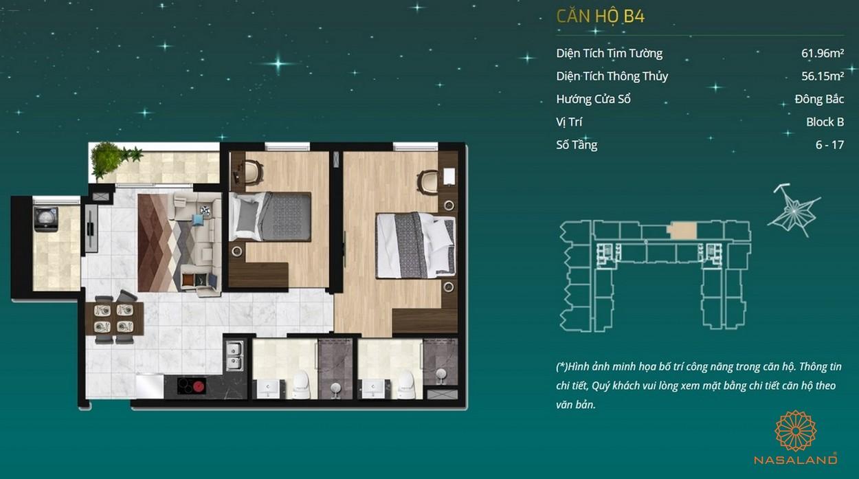 Thiết kế dự án căn hộ Asiana Capella - căn hộ B4