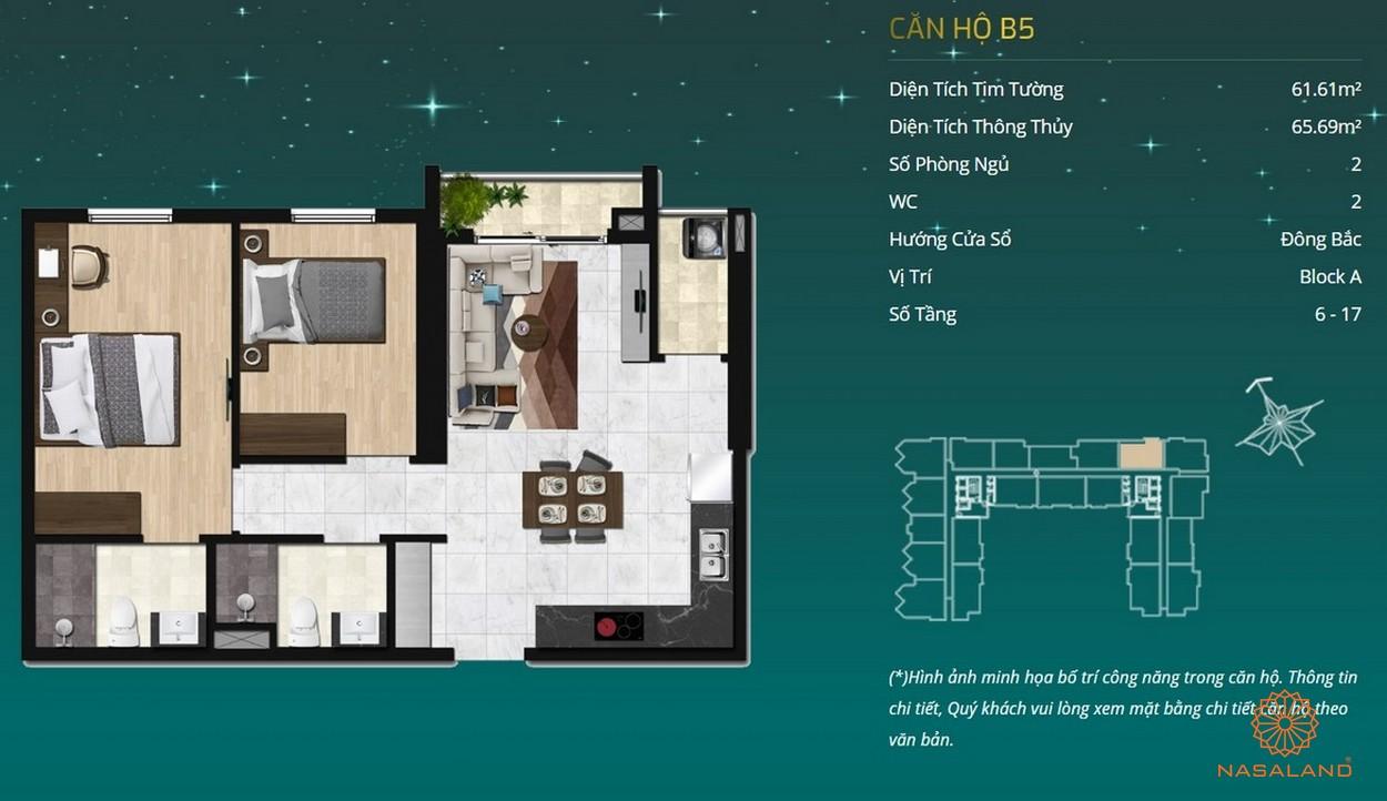 Thiết kế dự án căn hộ Asiana Capella - căn hộ B5