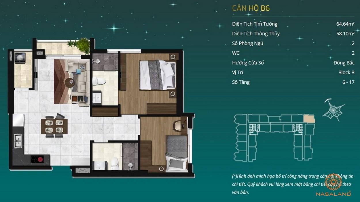 Thiết kế dự án căn hộ Asiana Capella - căn hộ B6