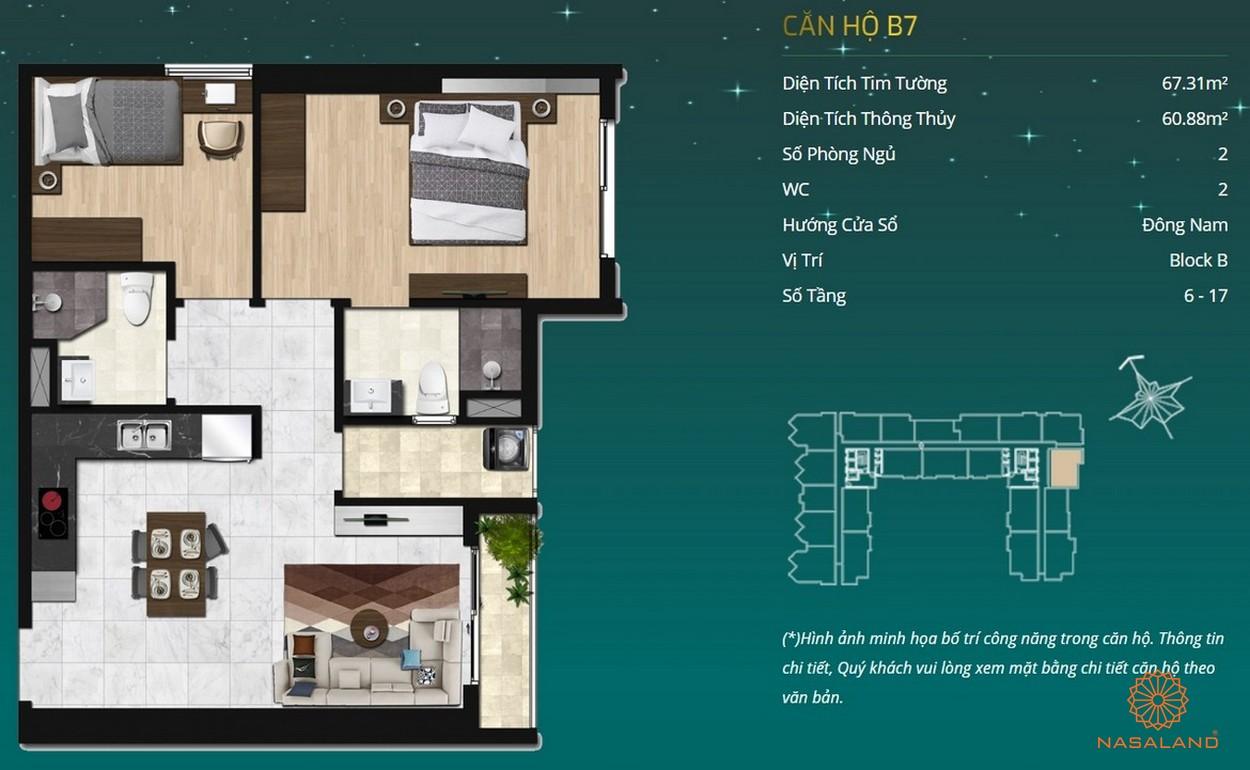Thiết kế dự án căn hộ Asiana Capella - căn hộ B7