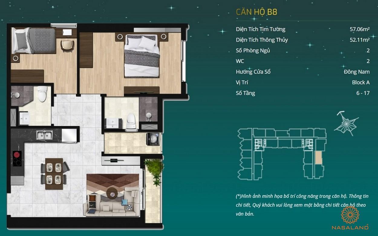 Thiết kế căn hộ dự án - căn hộ B8