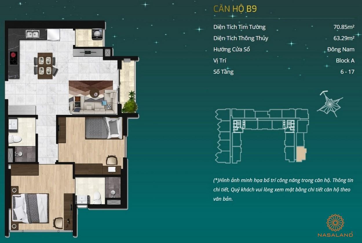 Thiết kế dự án căn hộ Asiana Capella - căn hộ B9