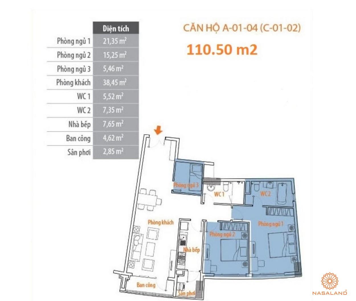 Thiết kế tổng quan căn hộ Him Lam Riverside quận 7 - block A căn số 04
