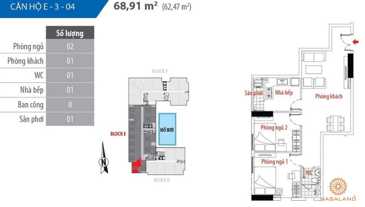 Thiết kế căn hộ block E số 04