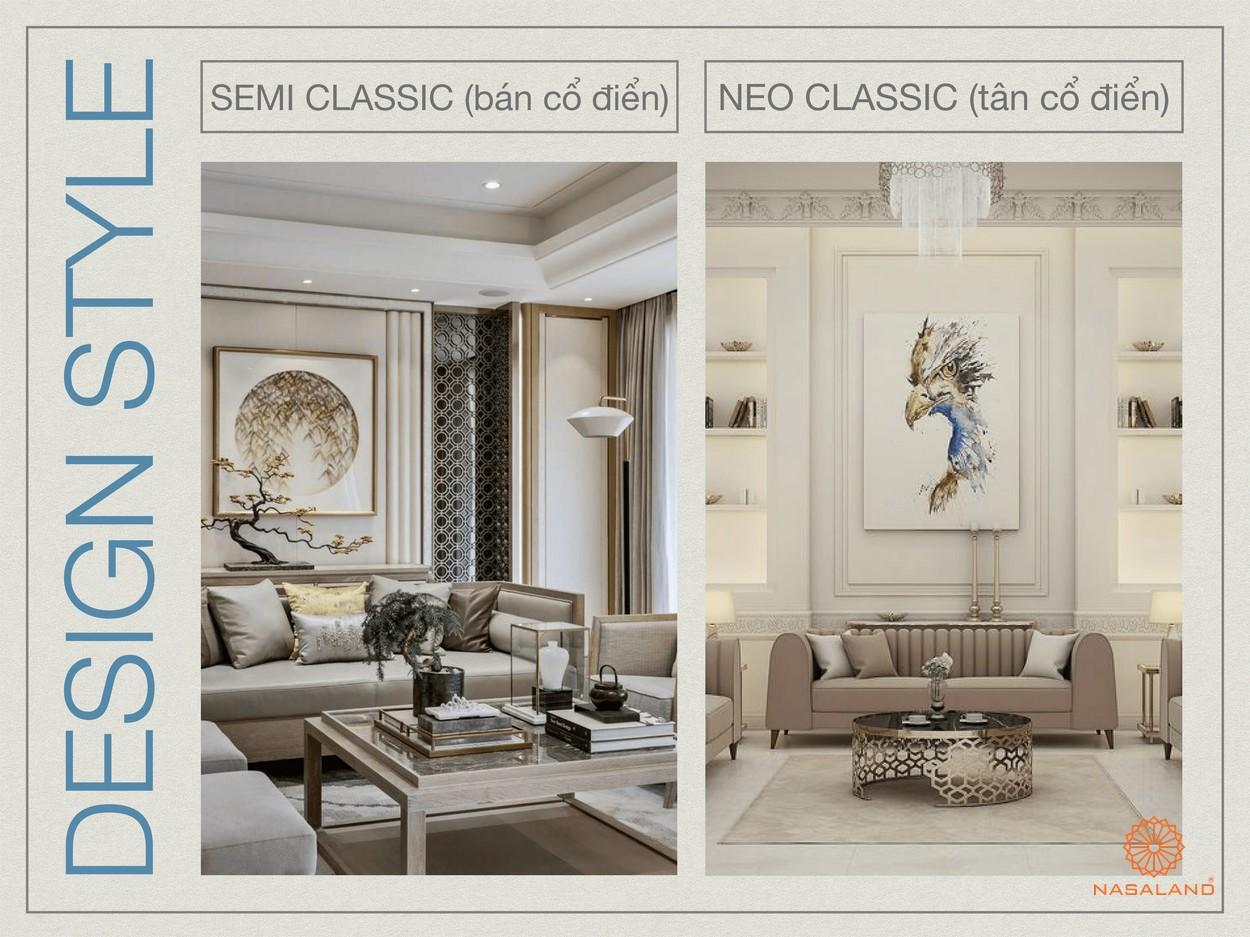 Hai phong cách tạo nên thiết kế Paris Hoàng Kim Quận 2