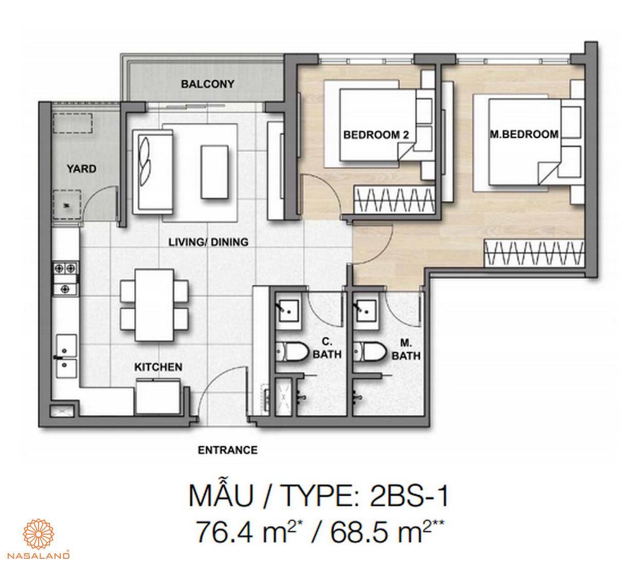 Mẫu thiết kế căn hộ Palm Springs số 1