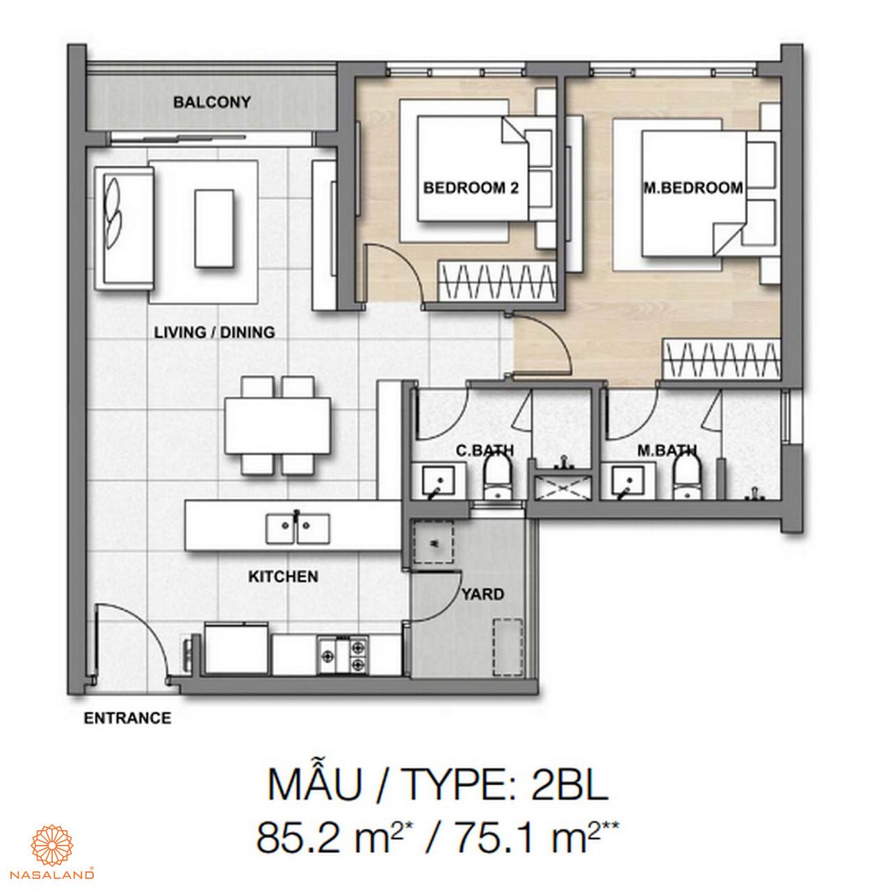Mẫu thiết kế căn hộ Palm Springs số 3