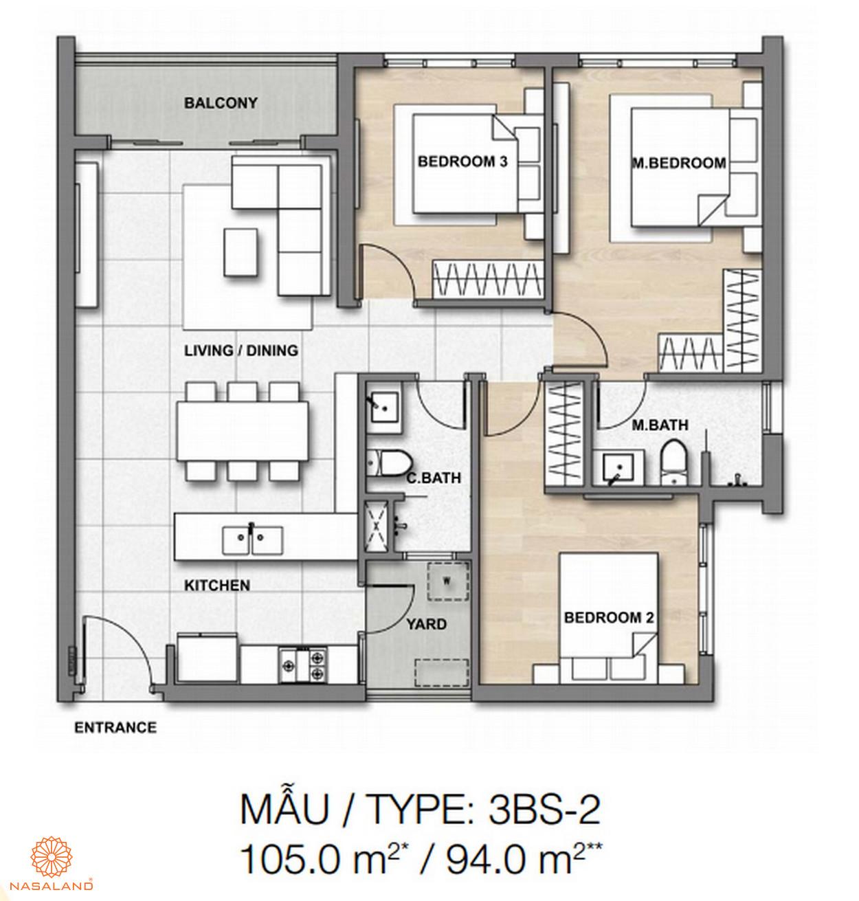 Mẫu thiết kế căn hộ Palm Springs số 4