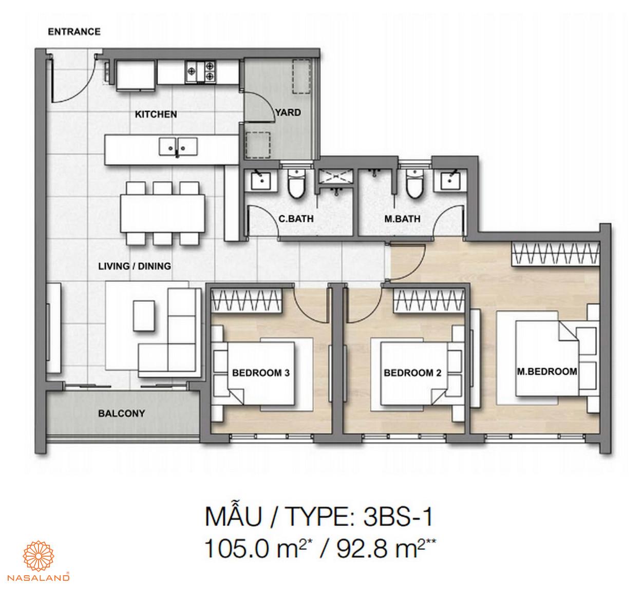 Mẫu thiết kế căn hộ Palm Springs số 5