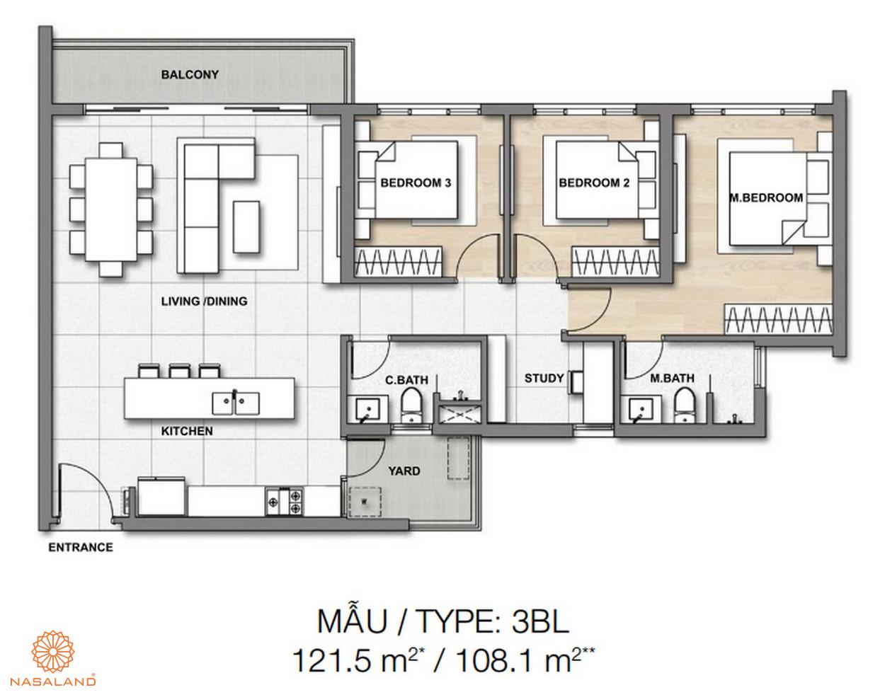 Mẫu thiết kế căn hộ Palm Springs số 6