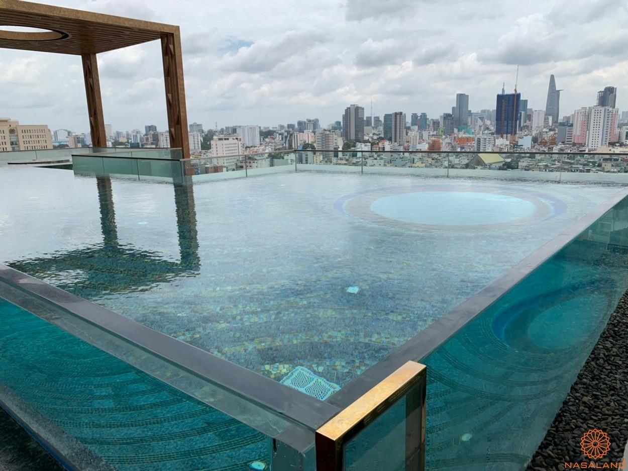 Tiến độ bàn giao căn hộ D1 Mension hồ bơi nước mặn