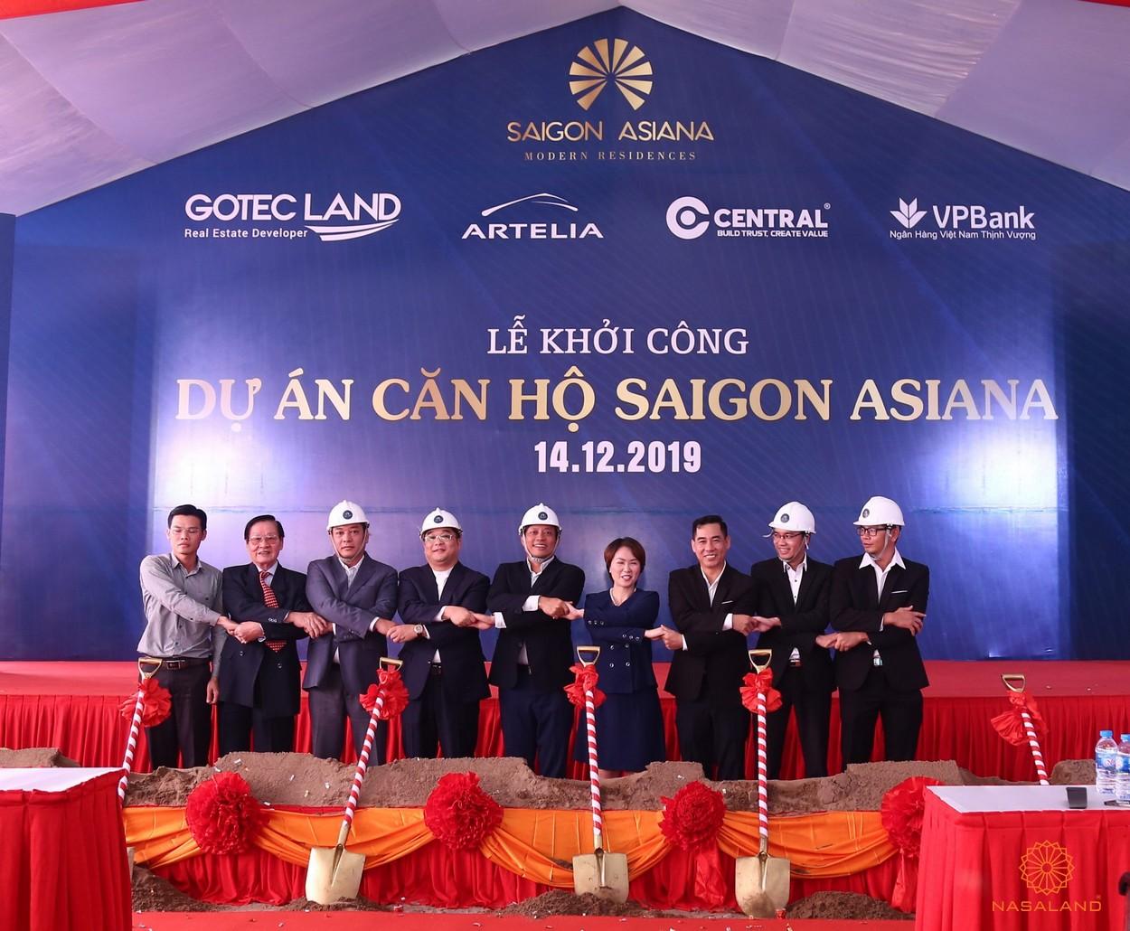 Bắt tay giữa chủ đầu tư và các đối tác tại lễ khởi công dự án căn hộ Asiana Phú Lâm