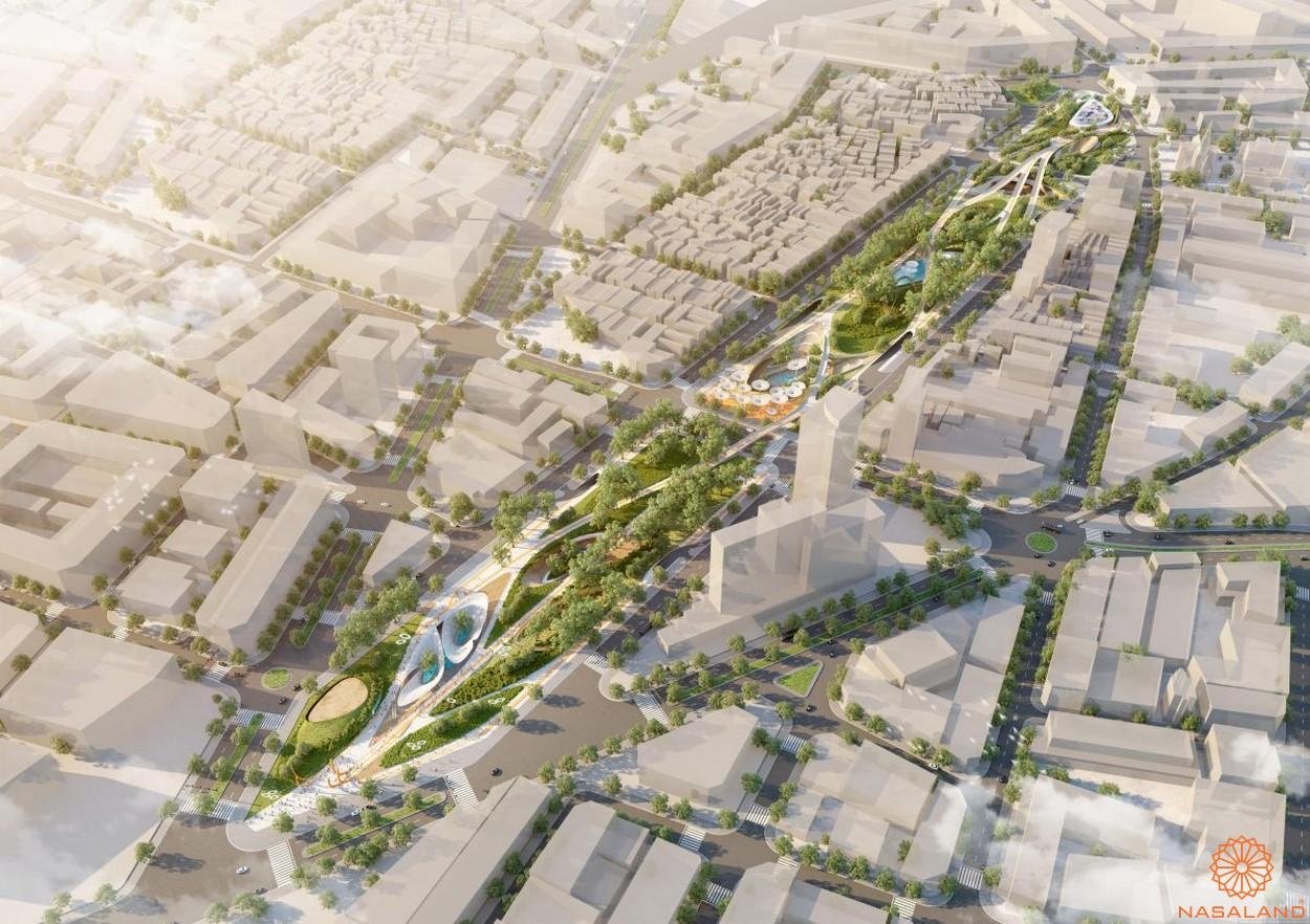 Tiện ích ngoại khu công viên 23/9 của dự án Alpha City