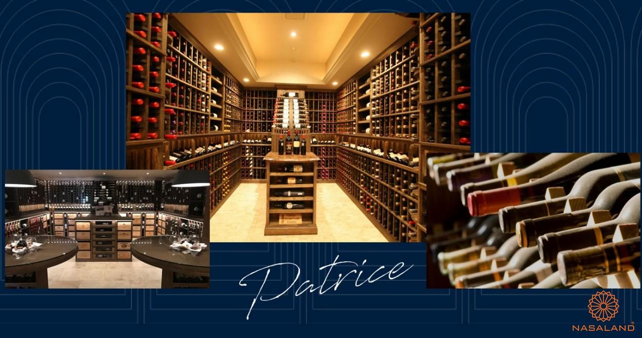 Tiện ích căn hộ Grand Central quận 3 - hầm rượu vang Organic Patrice Noblé