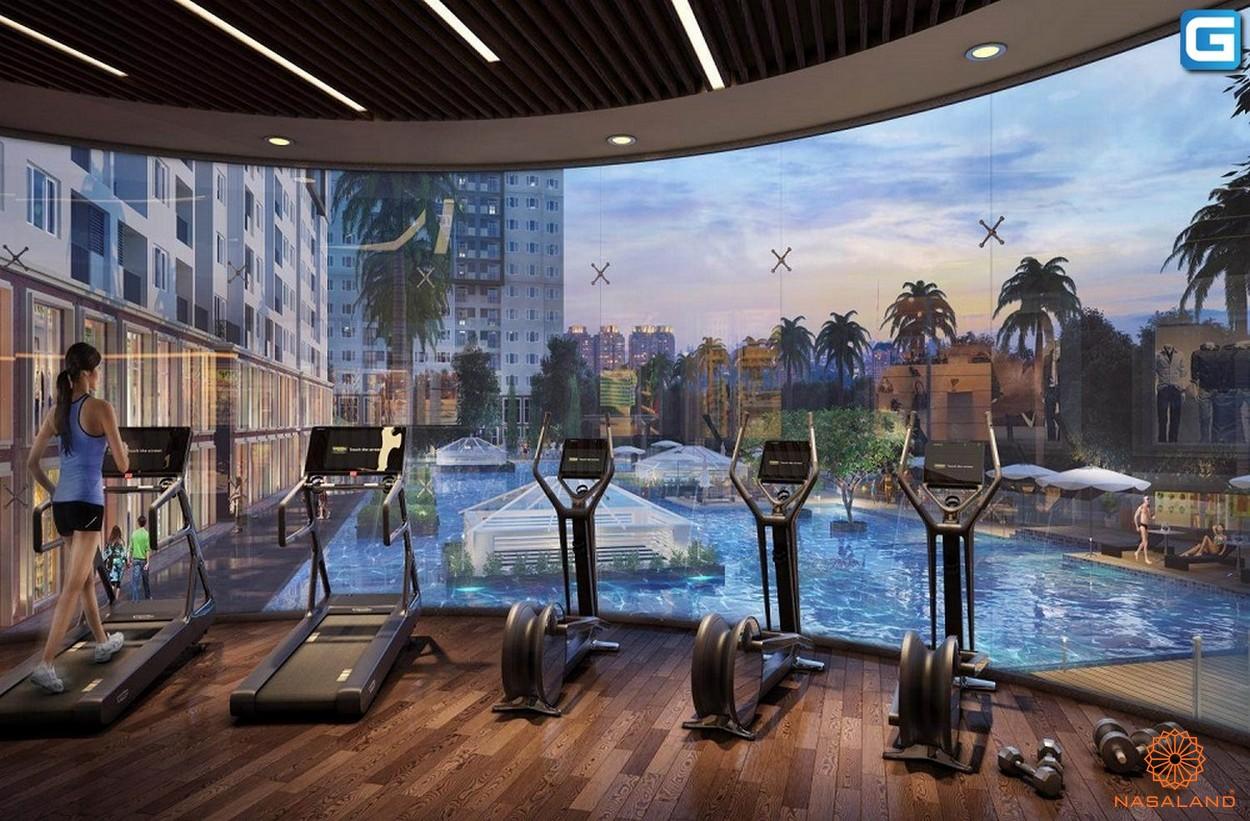 Tiện ích căn hộ Grand Central quận 3 - phòng tập gym Lasanté