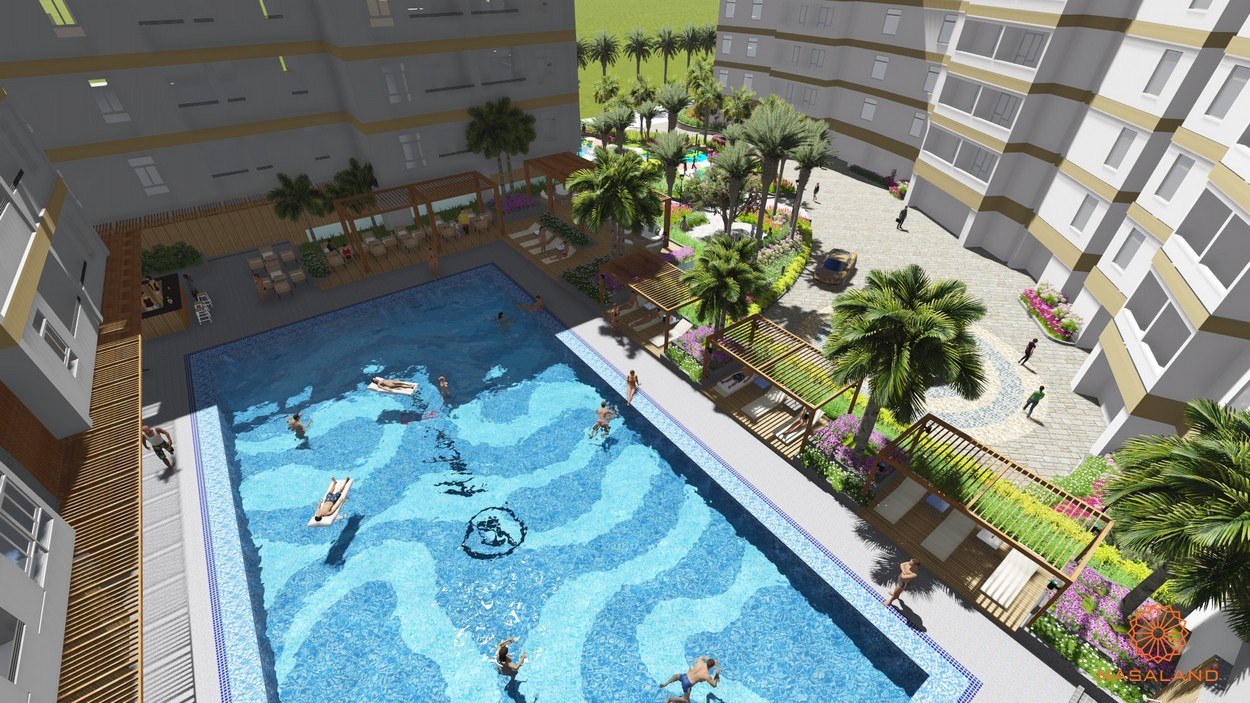 Tiện ích dự án căn hộ Him Lam Riverside - hồ bơi trung tâm