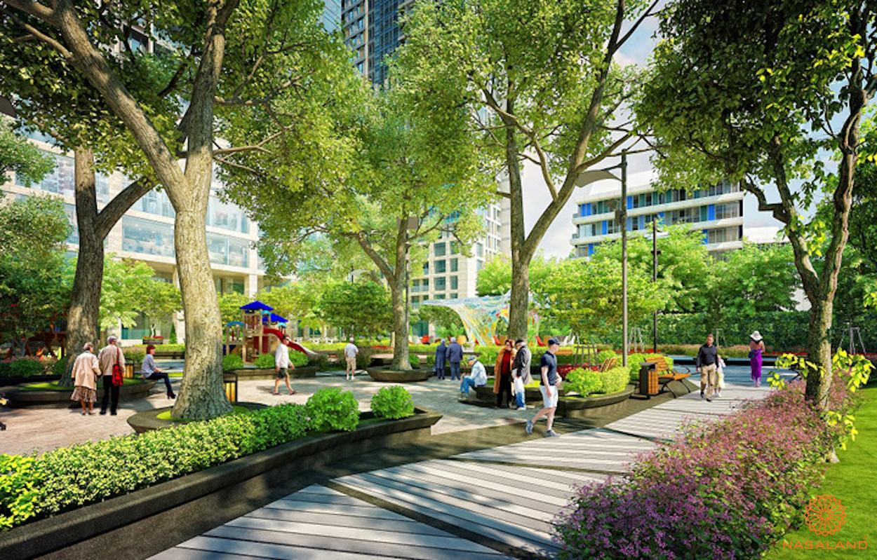 Tiện ích công viên nội khu căn hộ Marina Park