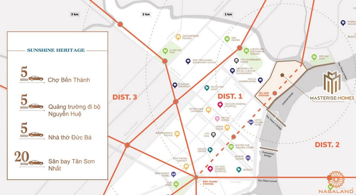 Tiện ích dự án căn hộ Masterise Homes Ba Son quận 1 chủ đầu tư Masterise Group
