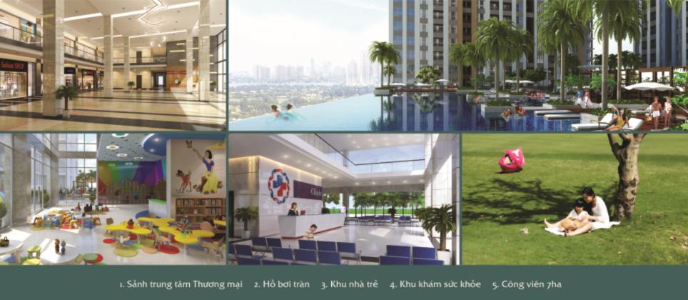 Tiện ích phân khu thể thao dự án Saigon Sport City quận 2