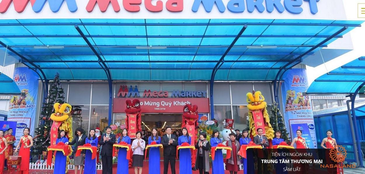 Tiện ích ngoại khu Asiana Capella - trung tâm thương mại Mega Market