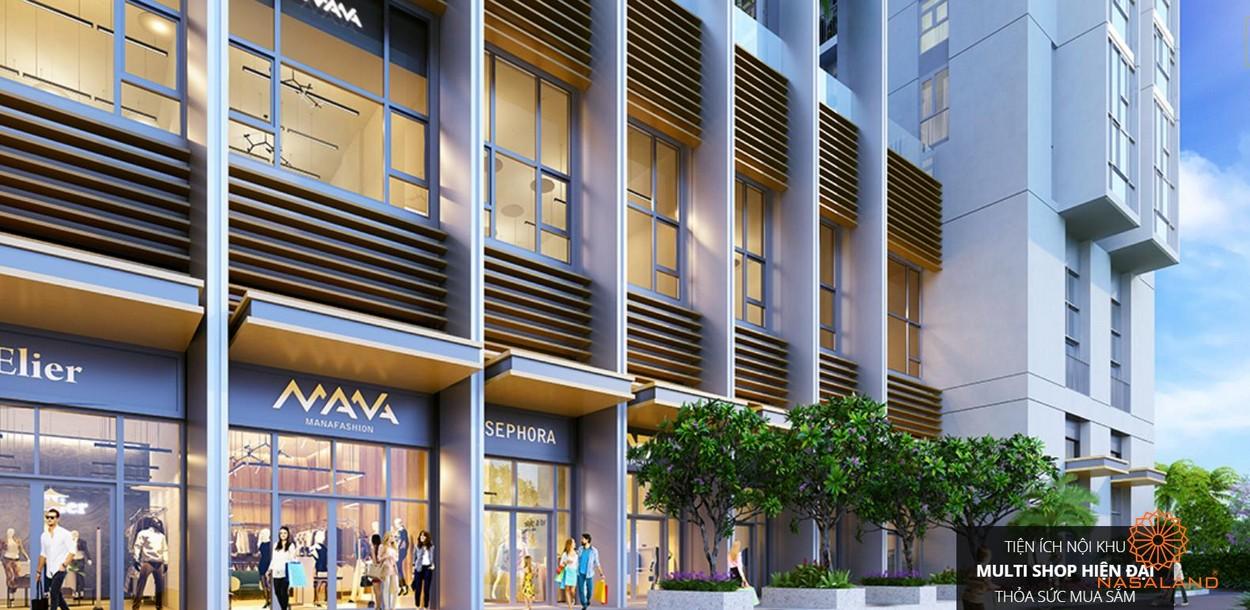 Tiện ích nội khu dự án Aisana Capella với multi shop độc đáo và đa dạng