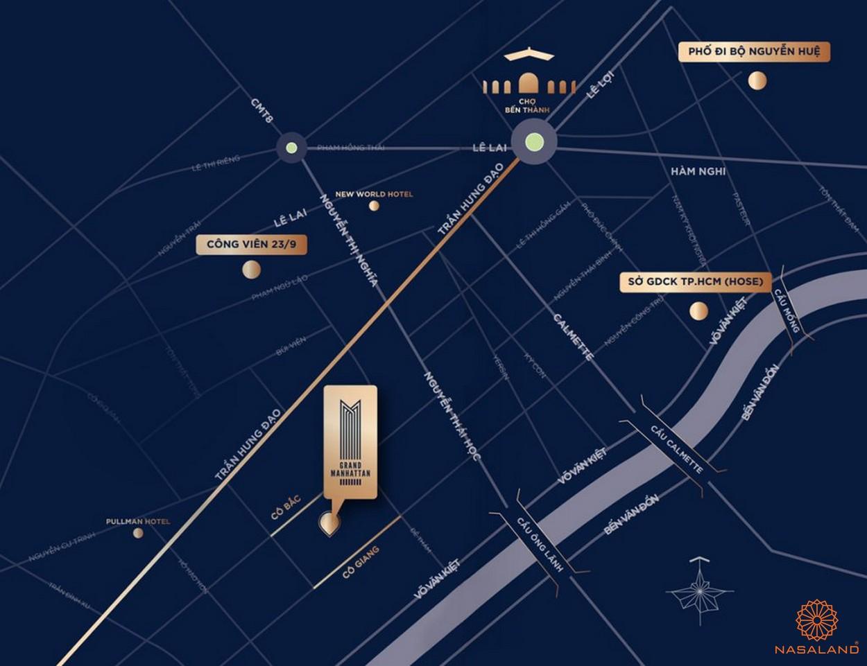 Vị trí căn hộ The Grand Manhattan