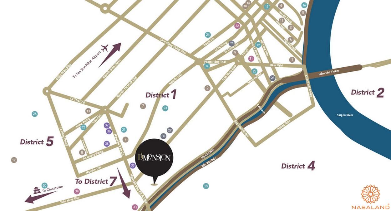 Vị trí địa chỉ căn hộ D1 Mension quận 1