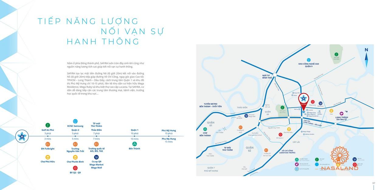Vị trí dự án nhà phố Safira Khang Điền