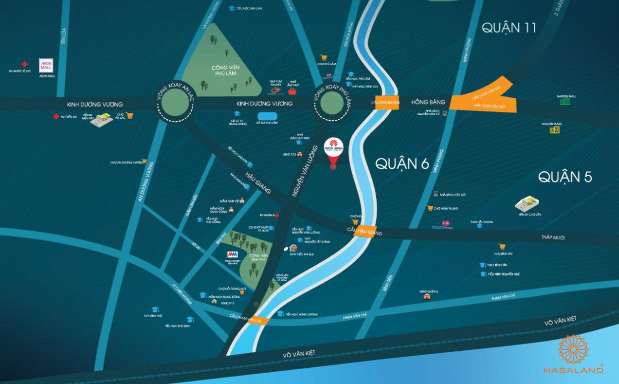 Vị trí dự án căn hộ Asiana quận 6