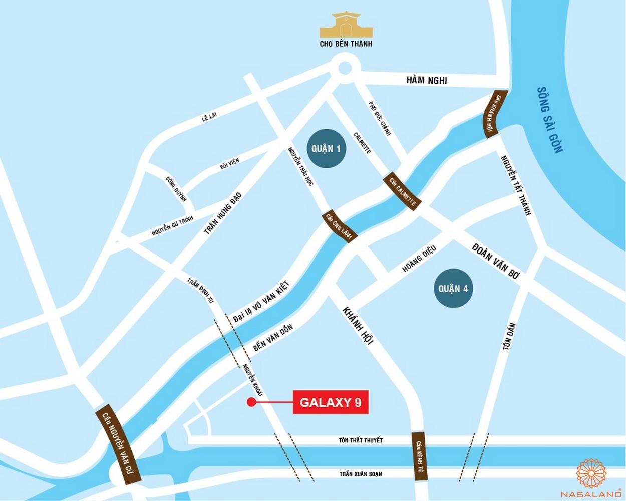 Vị trí dự án căn hộ Galaxy 9 quận 4chủ đầu tư Novaland