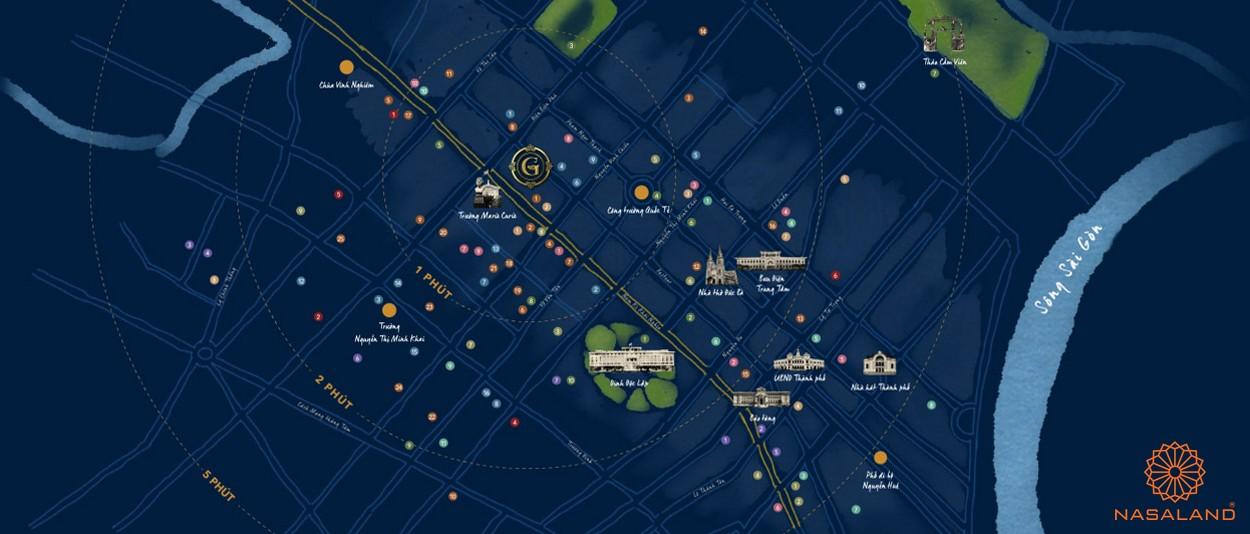 Vị trí dự án căn hộ Grand Central quận 3
