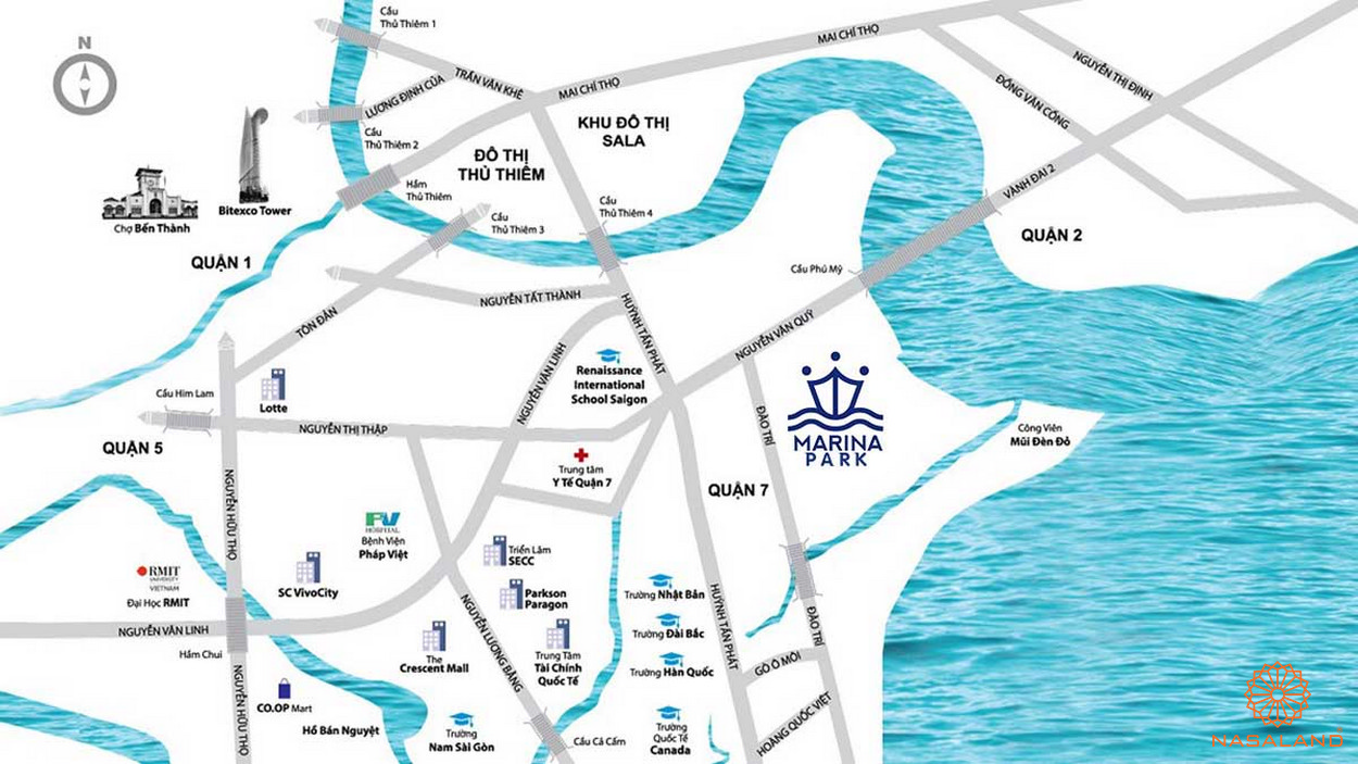 Vị trí dự án căn hộ Marina Park