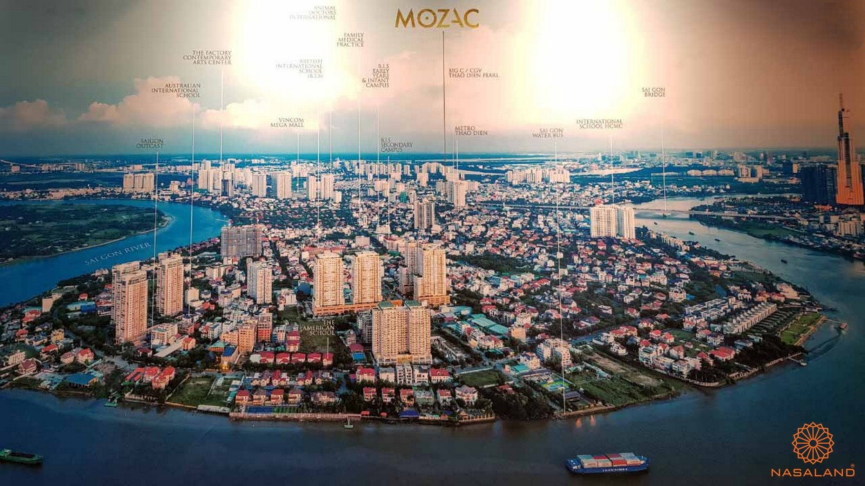 Vị trí dự án căn hộ Mozac Thảo Điền quận 2