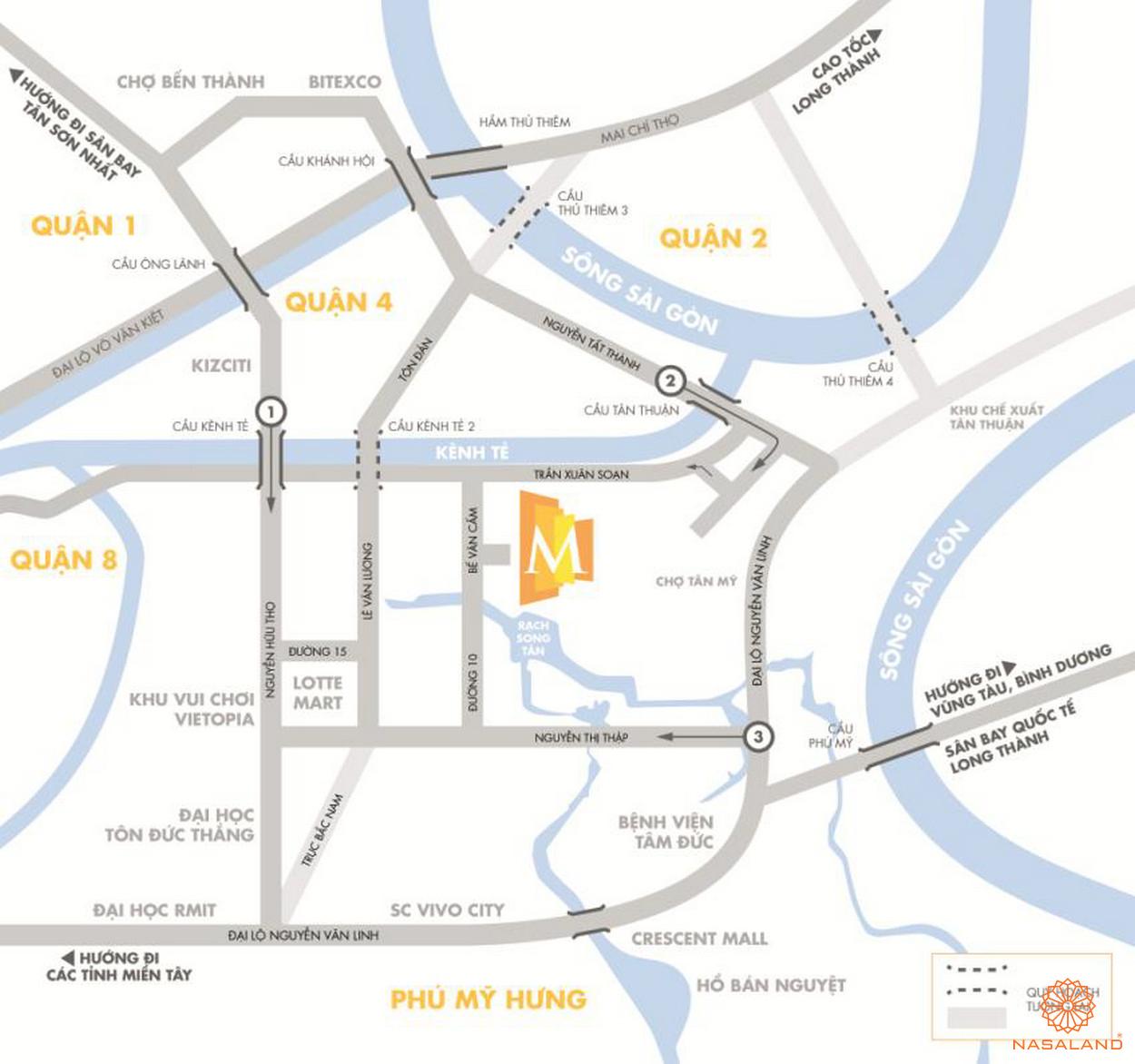 Vị trí dự án M-One Nam Sài Gòn