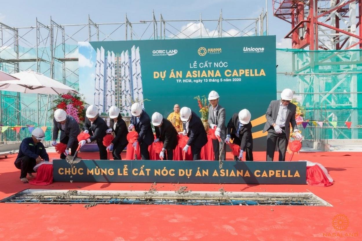Cập nhật tiến độ dự án Asiana Capella - lễ cất nóc