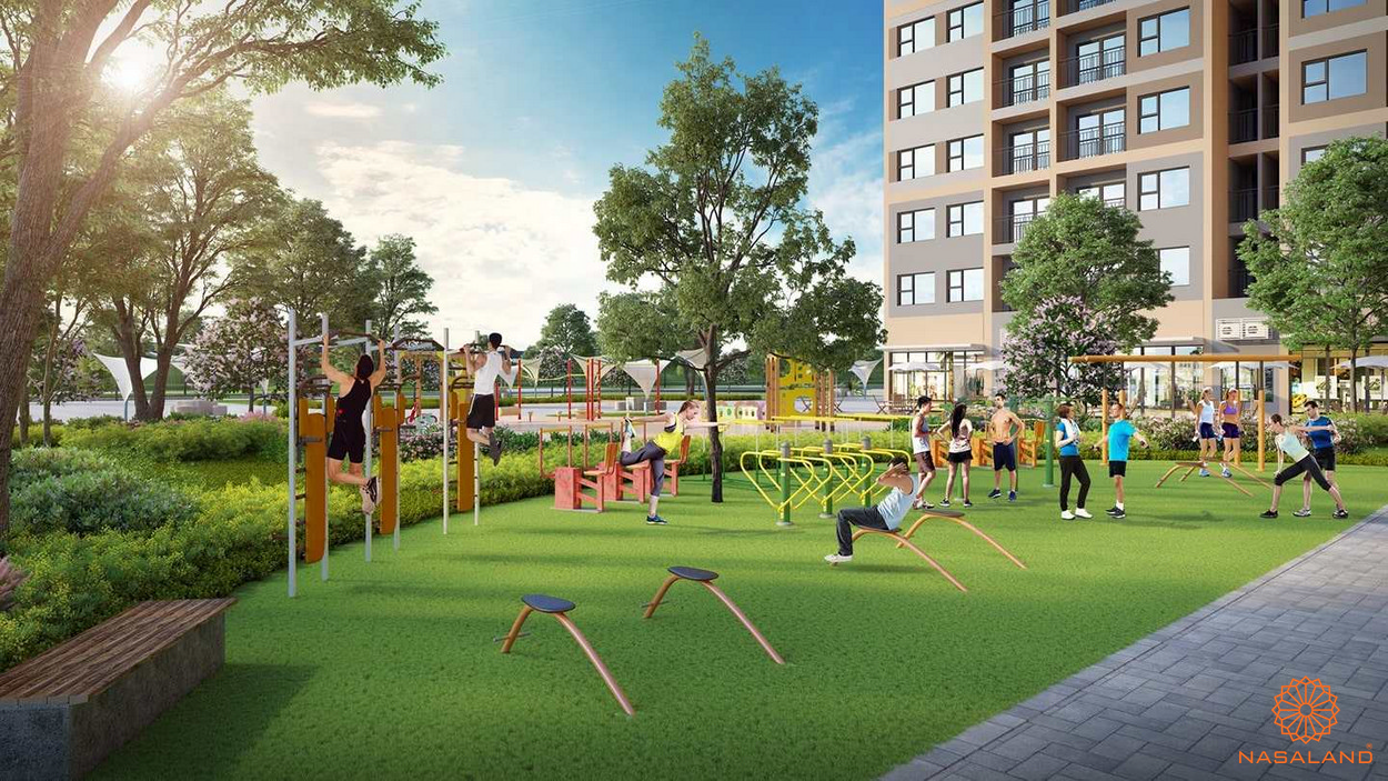 Tiện ích dự án Vinhomes Ocean Park - công viên gym