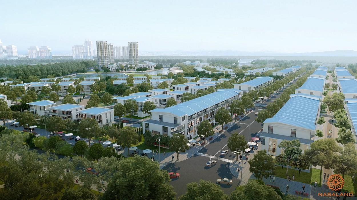 Hình ảnh phối cảnh dự án khu đô thị Hồ Gươm Xanh Thuận An City Bình Dương