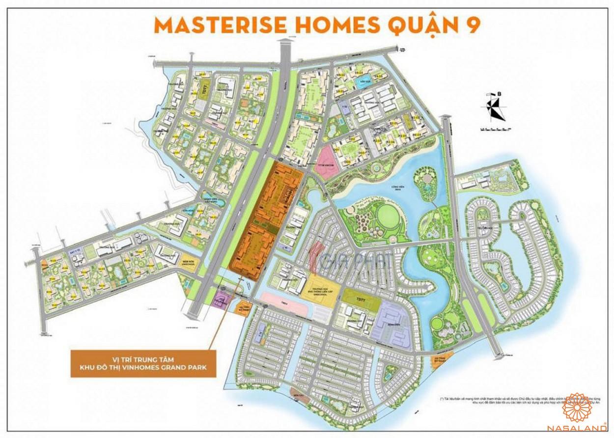 Vị trí tổng thể dự án căn hộ Masteri Centre Point