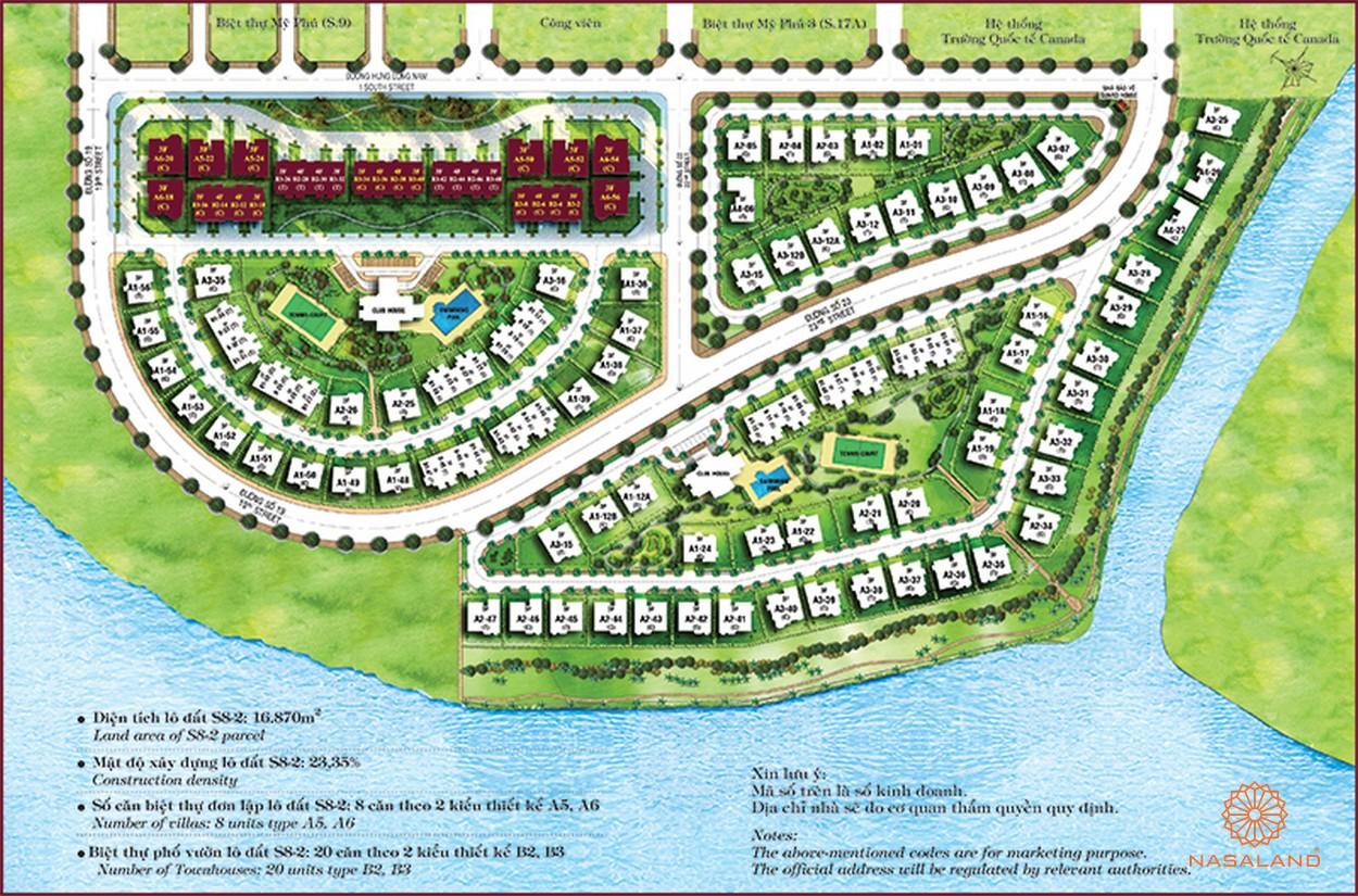 Mặt bằng tổng thể của dự án Chateau Phú Mỹ Hưng Quận 7