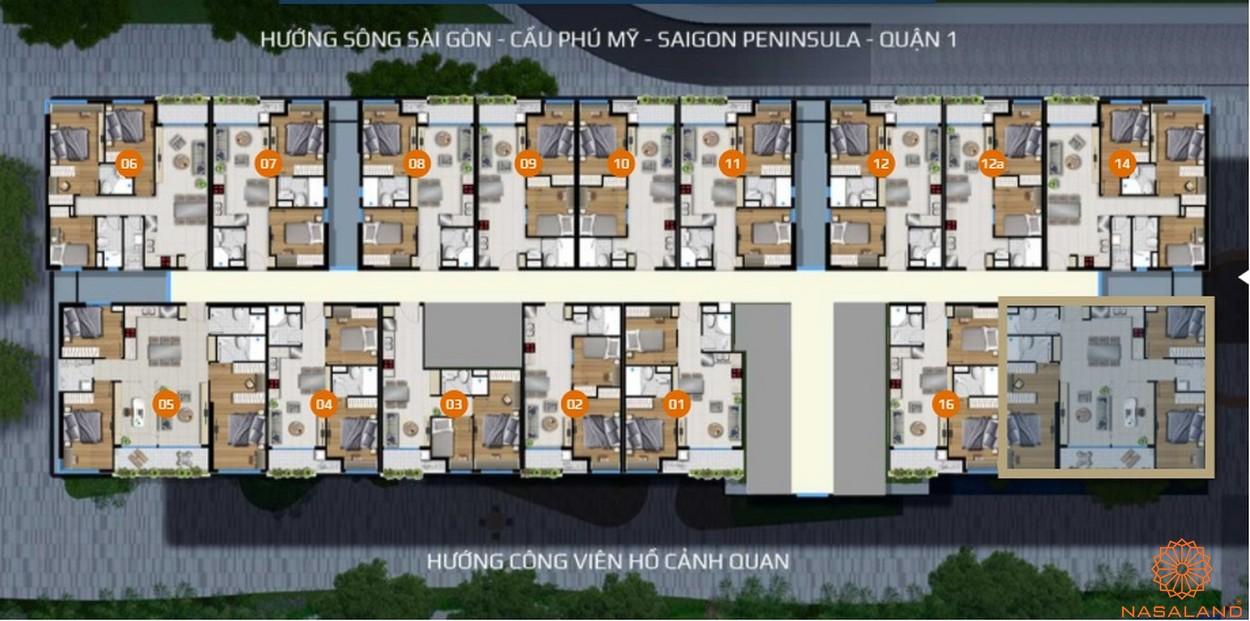 Mặt bằng căn hộ dự án căn hộ River Panorama quận 7